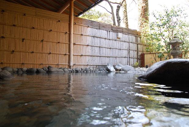 日本庭園と良質な源泉