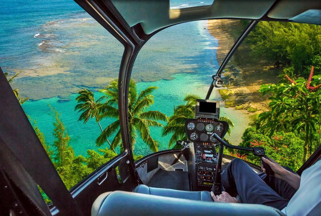 ハワイでヘリコプターをチャーター