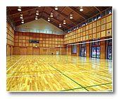 多目的ホールで室内スポーツ