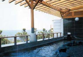 太平洋を一望できる露天風呂