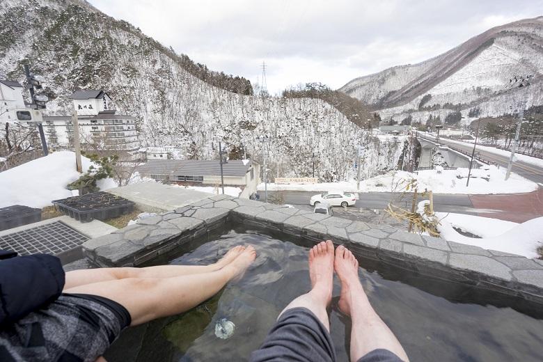 芦ノ牧温泉の足湯