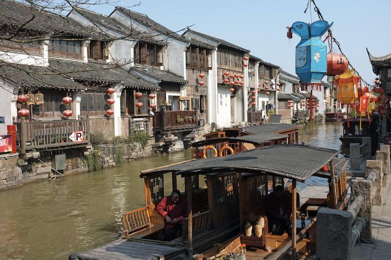 蘇州で運河遊覧