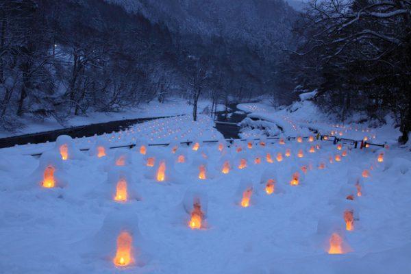 日光の湯西川ライトアップ3