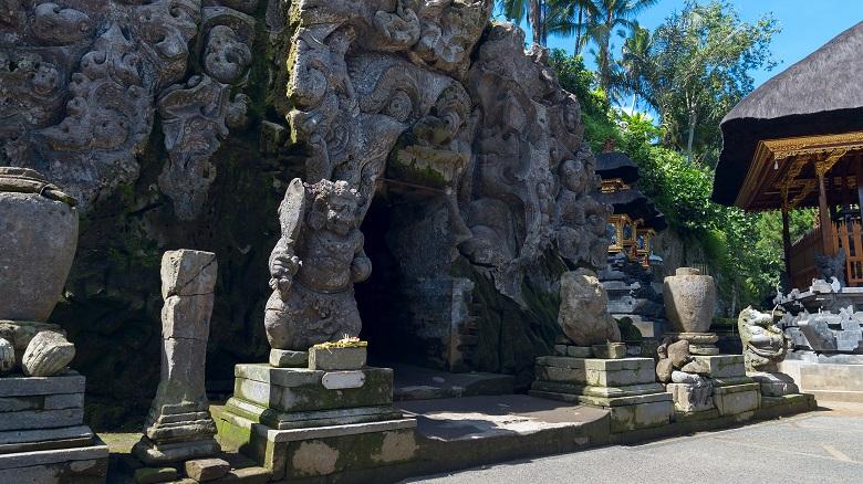 ゴア・ガジャ遺跡の入り口