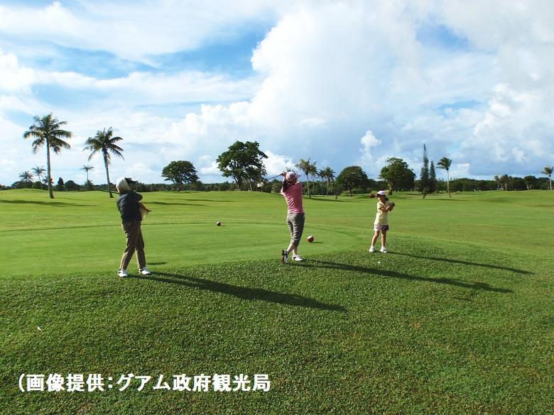 グアムでリゾートゴルフ