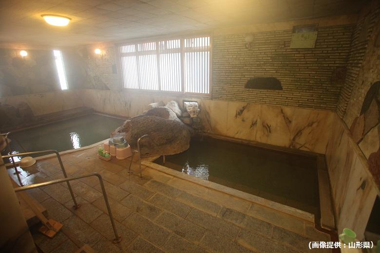 肘折温泉つたや金兵衛の混浴風呂
