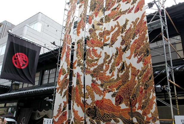 祇園祭りの西陣織