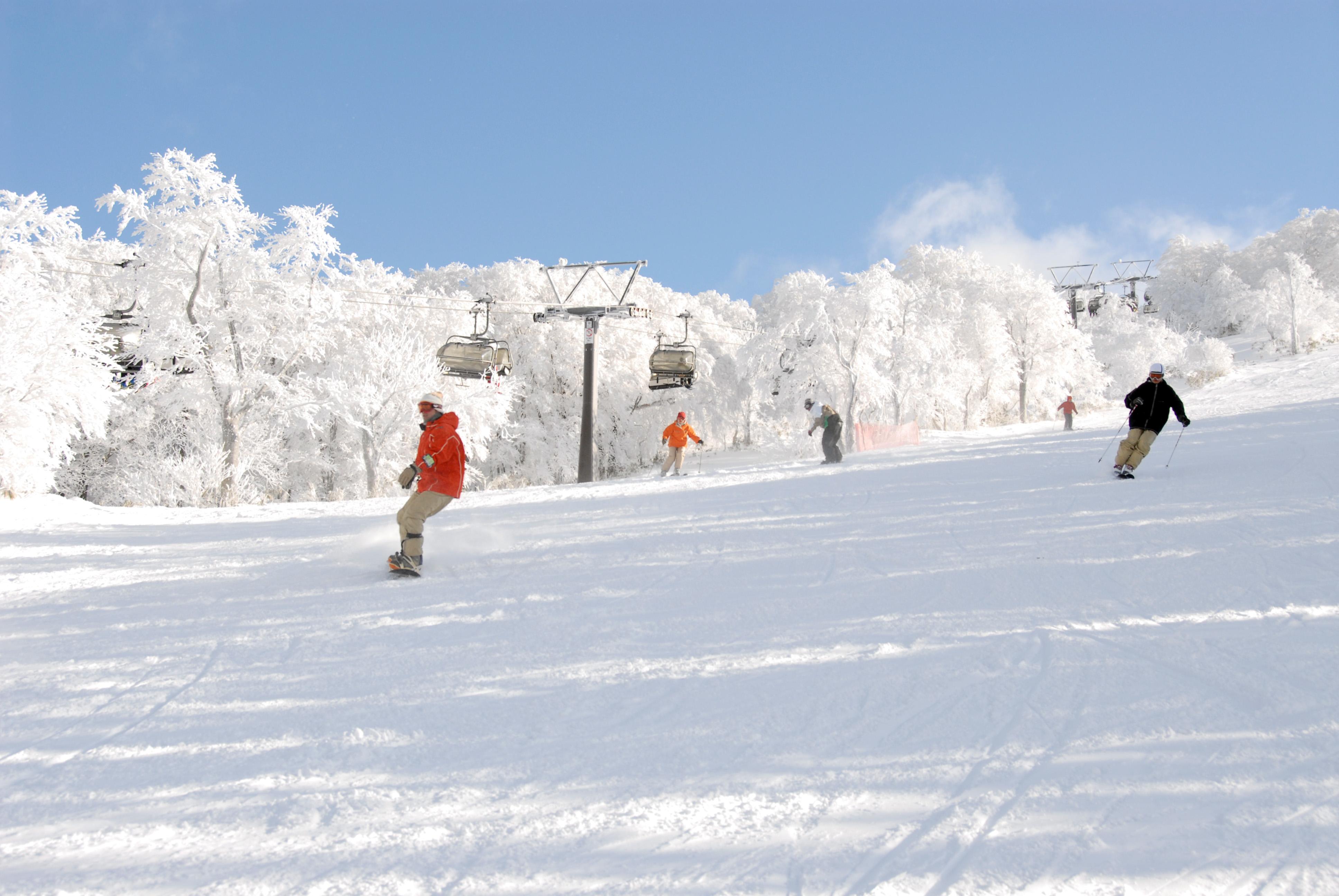 プレミアムスノーが自慢の箕輪スキー場