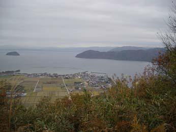 琵琶湖と竹生島(賤ヶ岳より)