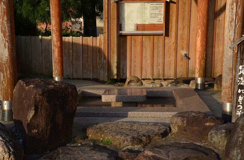 六日町温泉の足湯