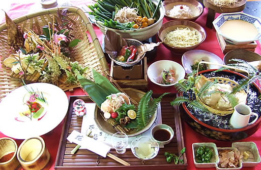 季節の会席料理(例)