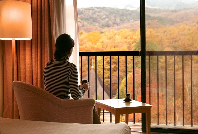 窓からの景色に満足