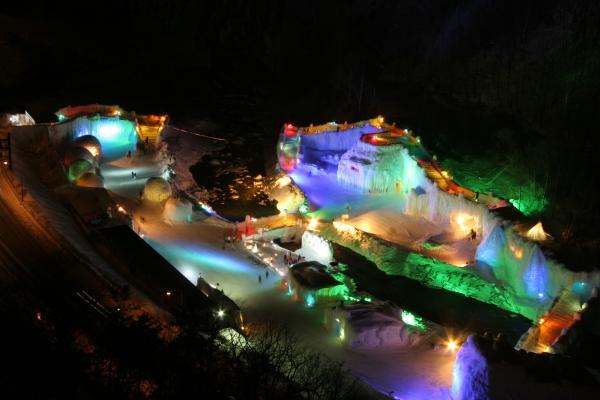 層雲峡氷瀑祭り
