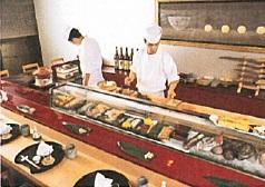 「石庭」お寿司コーナー