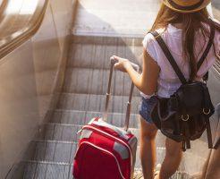 旅行中の荷物