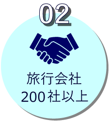 参加旅行会社200社以上