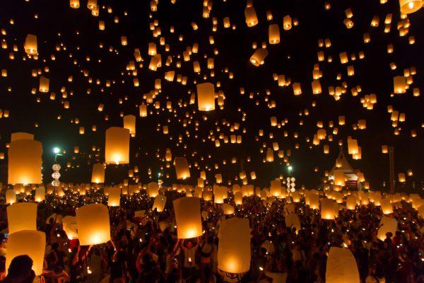 台湾の天燈上げ