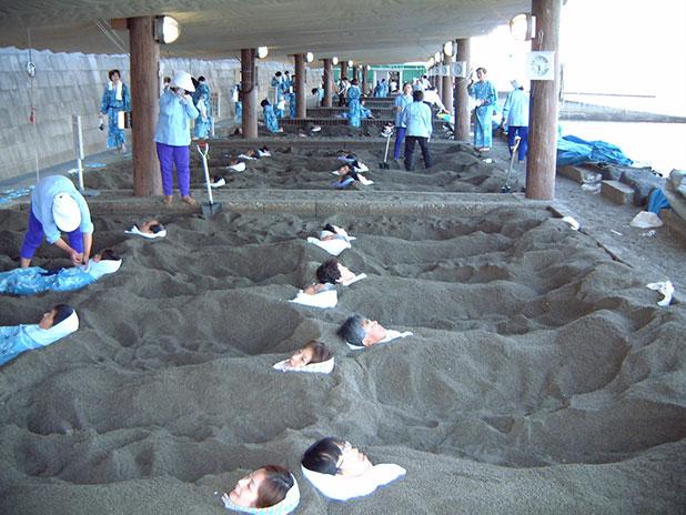 砂むし体験
