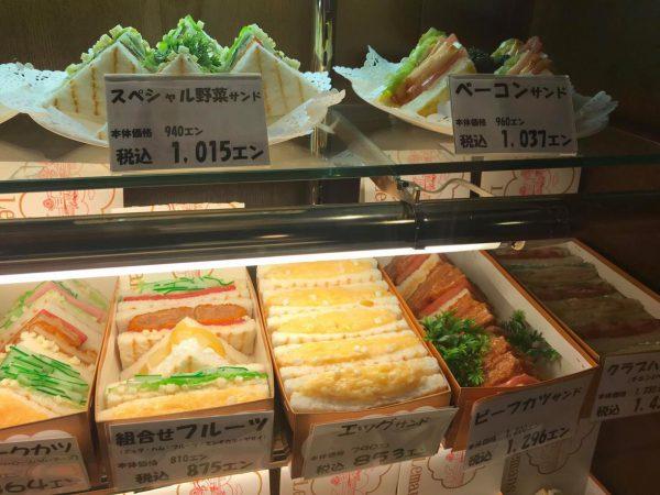 写真/撮影Mさん(宝塚で人気の「ルノン」の卵サンド)