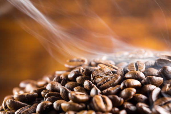 ローストしたコーヒー豆のいい香り