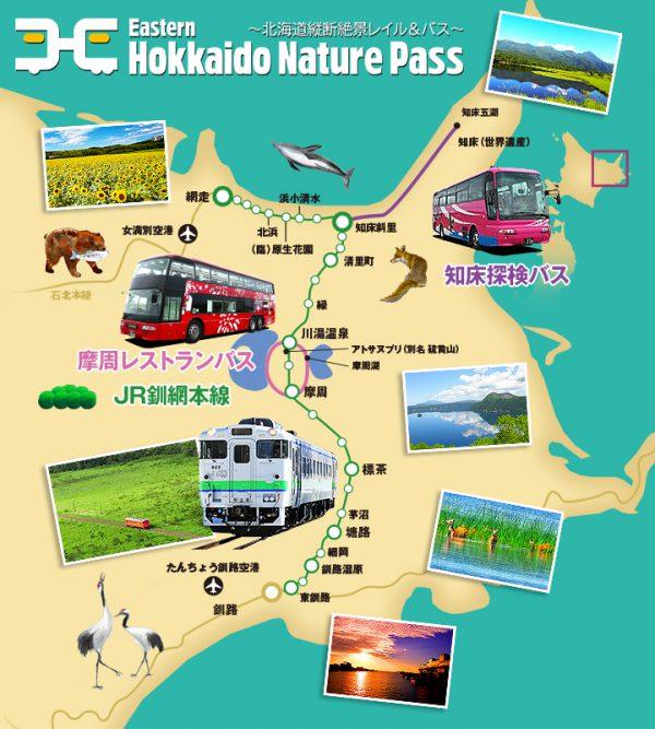 「Eastern Hokkaido Nature Pass ~北海道縦断絶景レイル&バス~」 のプラン内容