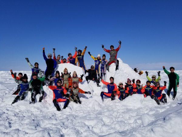2月最盛期の流氷ウォーク
