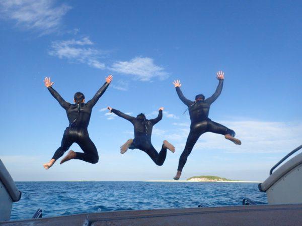 海へ向かった大ジャンプ