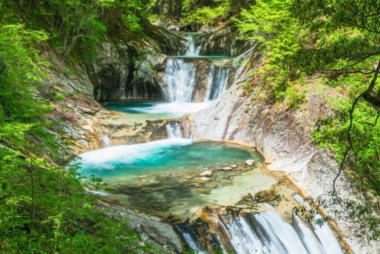 西沢渓谷・七ツ釜五段の滝