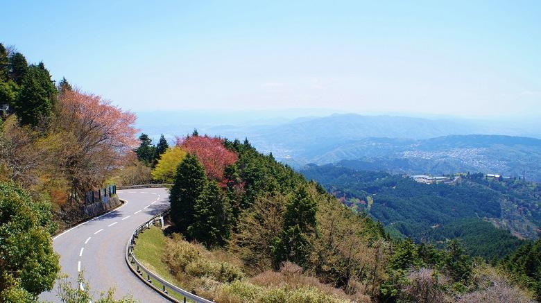 比叡山山頂からのパノラマ風景