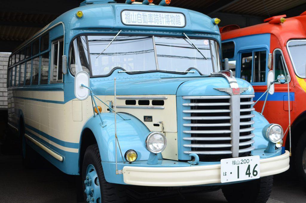 乗車体験も可能なボンネットバス