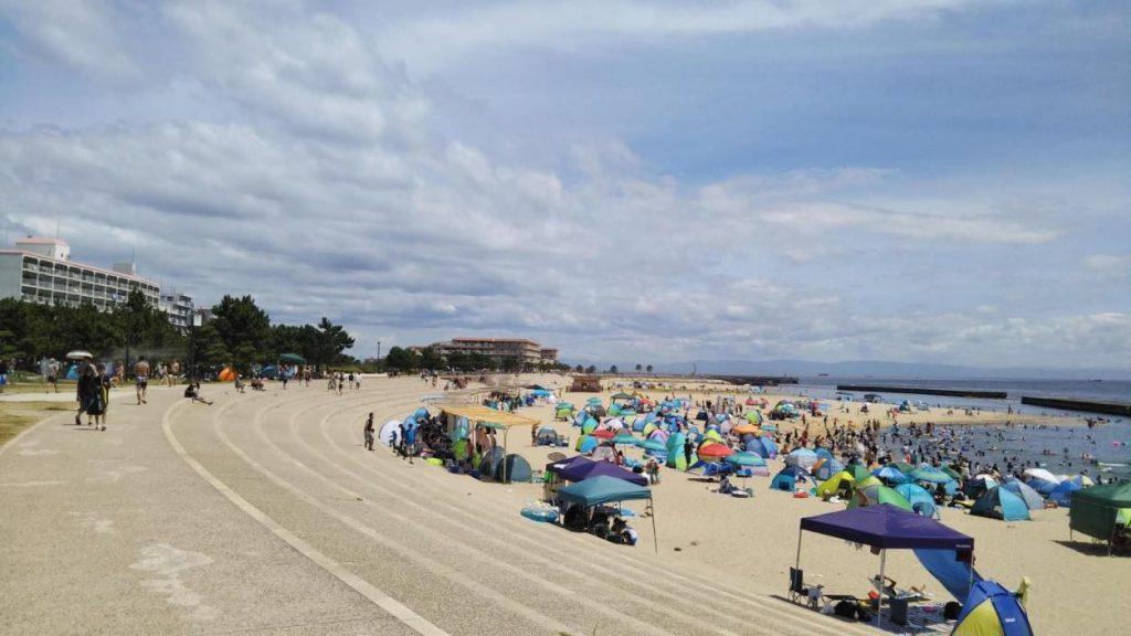 お昼近くでも混雑しない穴場のビーチ