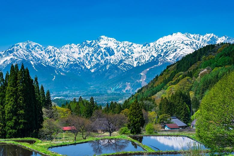 長野県・北アルプスの青鬼集落の原風景
