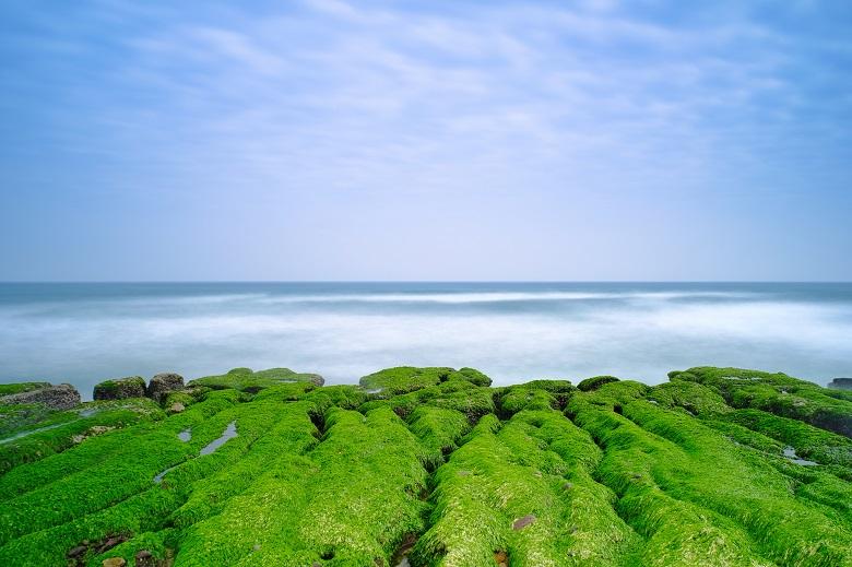 4月台湾の絶景・老梅石槽