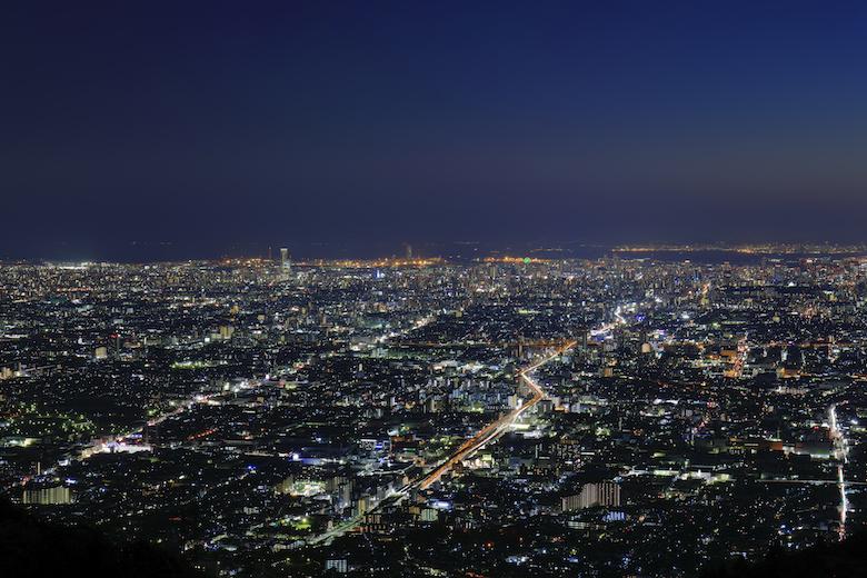 信貴生駒スカイライン 夜景
