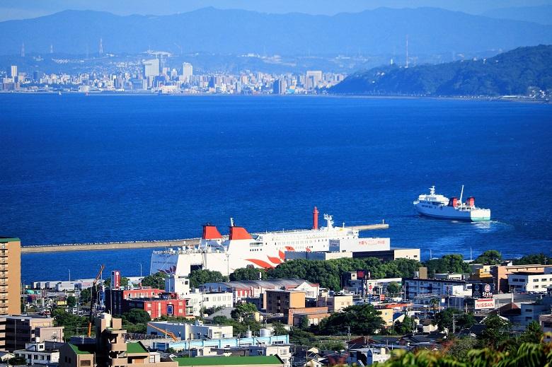 別府観光港と西大分港