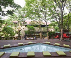 箱根 ゆとわの中庭風景