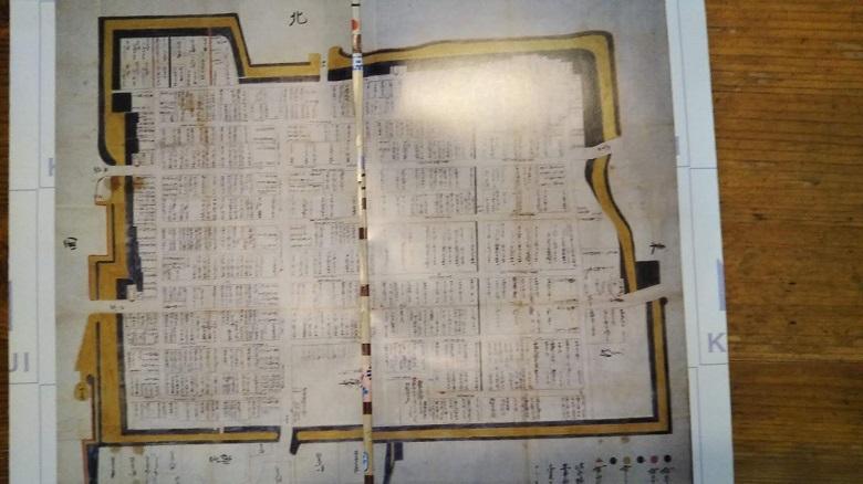 16世紀の久宝寺寺内町地図