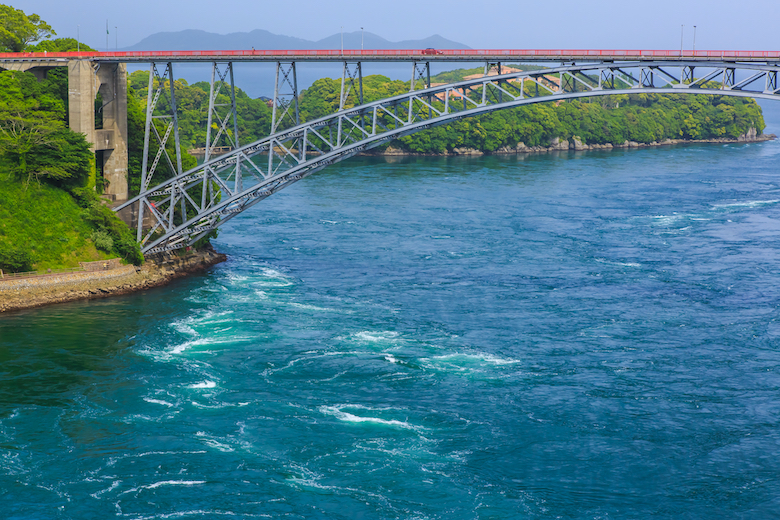 西海橋 うず潮