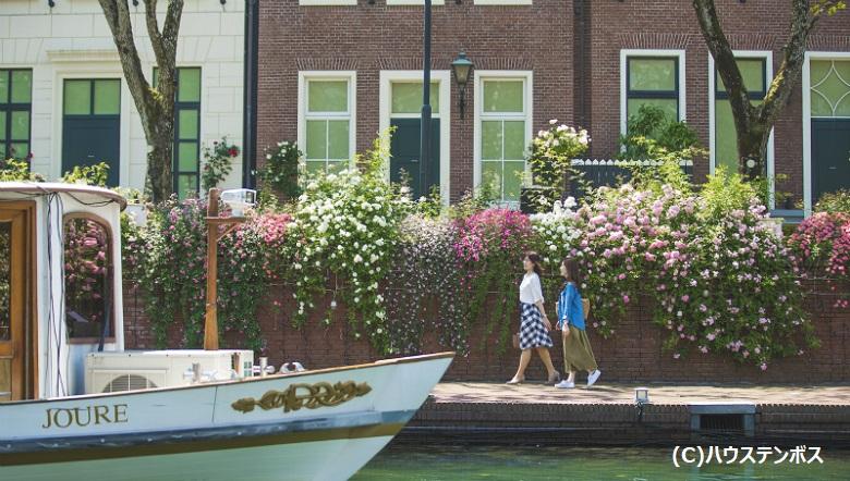 ハウステンボスの運河とゴンドラ