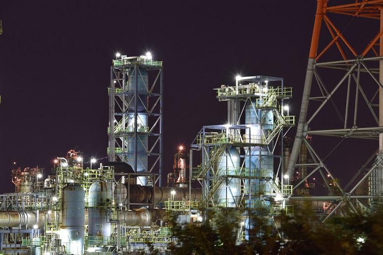 堺泉北臨海工業地帯の夜景