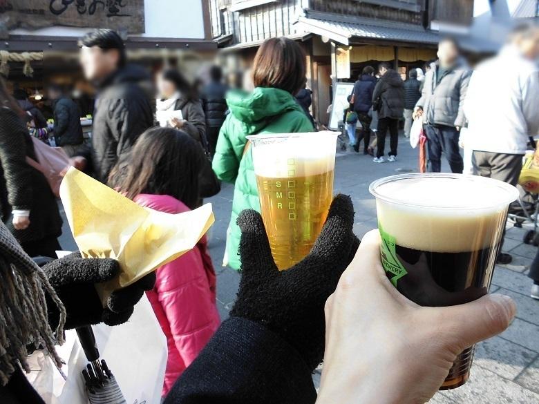 カキフライと地ビール