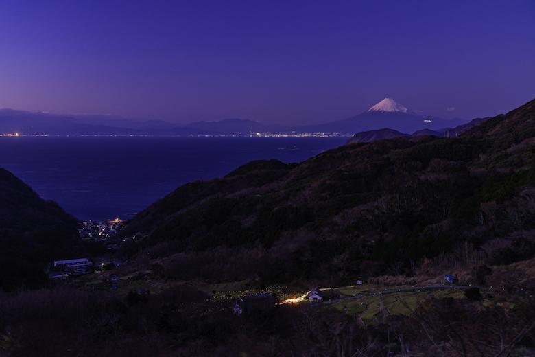 石部棚田と富士山