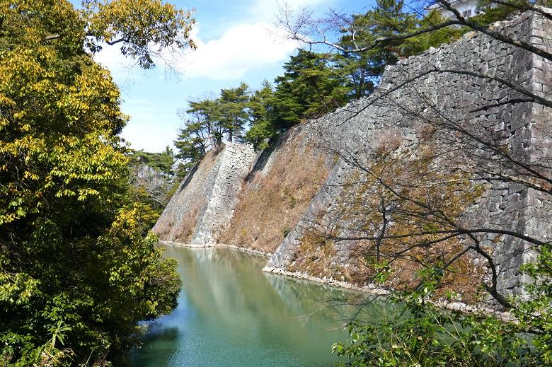 伊賀上野城の有名な高垣