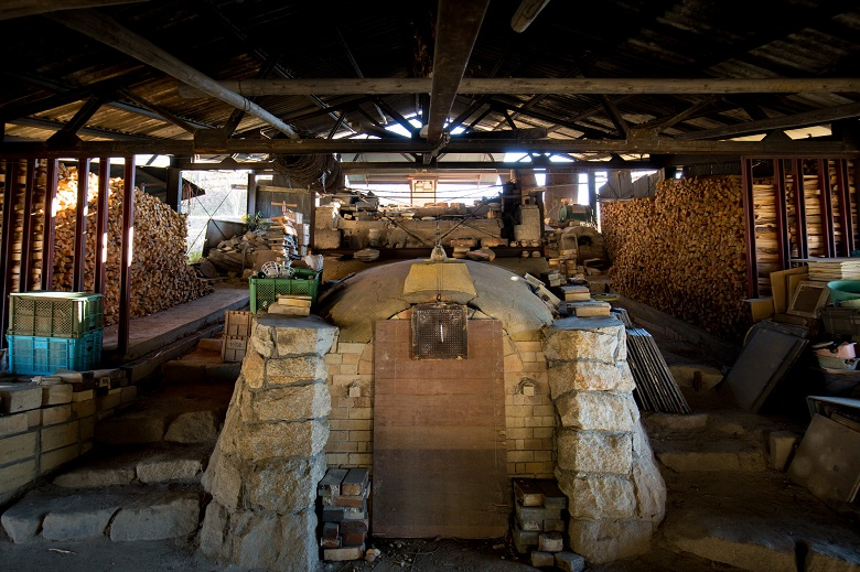 伊賀焼の釜
