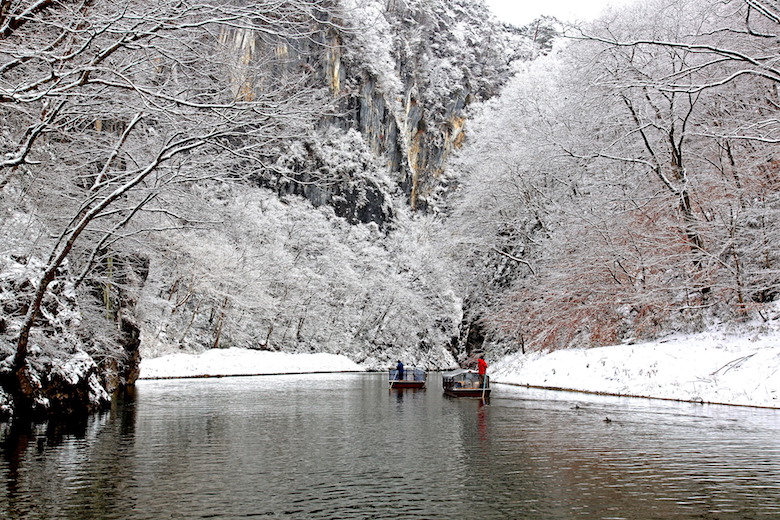 冬の猊鼻渓