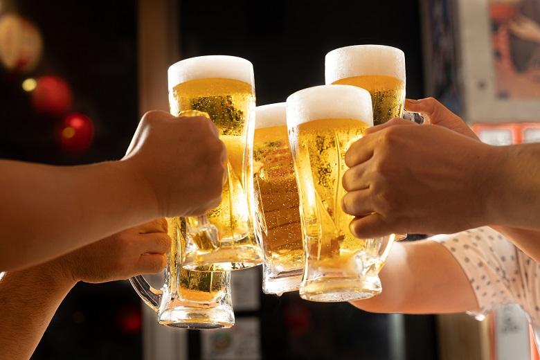出来立てビールで乾杯からスタート