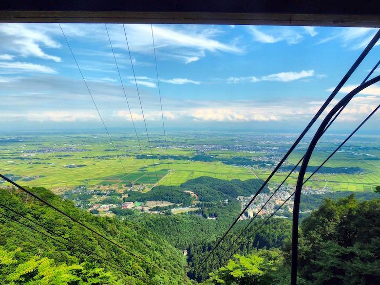 弥彦山ロープウェイからの眺め