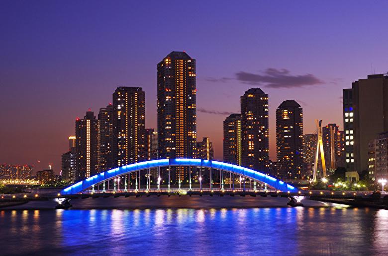 永代橋と夜景