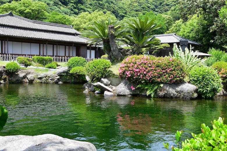 仙厳園の美しい庭園