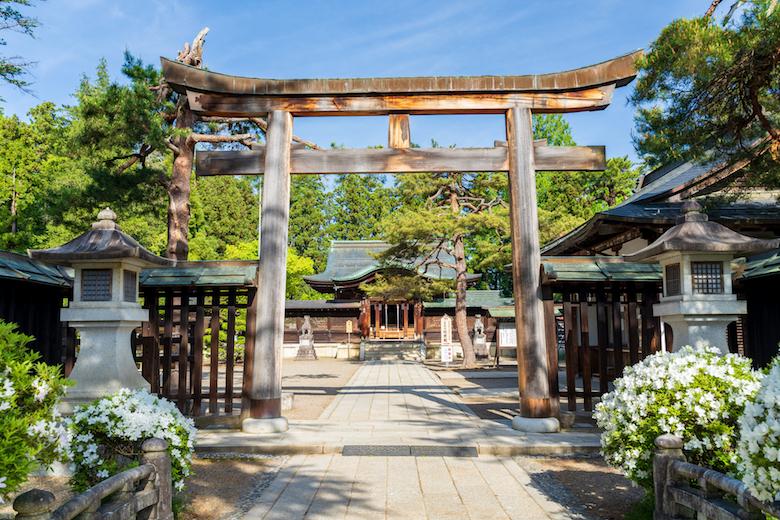 上杉謙信公を祀る「上杉神社」